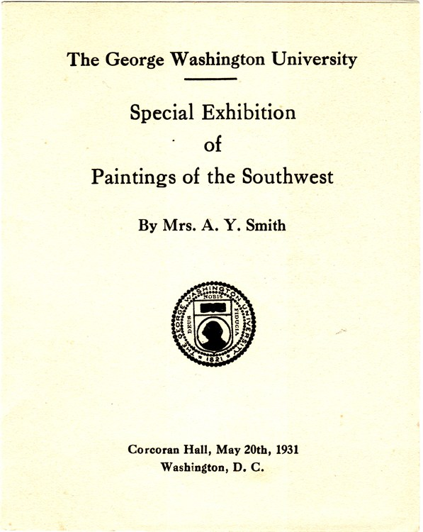 GWU Exhibition by E.A. Smith - 1931