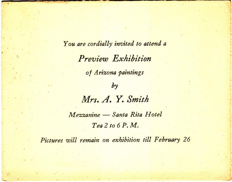 Santa Rita Hotel invitation 1938