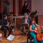Bach, Britten, Agócs, Wilson, D'Rivera, Bruce, and Barros